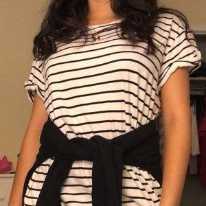 Striped T-Shirt Dress/ Big T Shirt